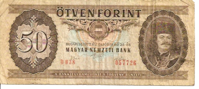 Hungarian National Bank  50 Forint  1965-1983 Issue Dimensions: 200 X 100, Type: JPEG