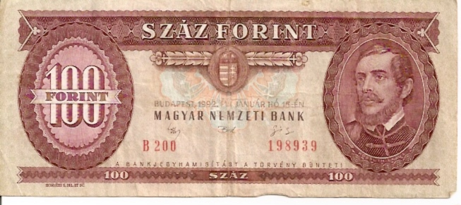 Hungarian National Bank  100 Forint  1965-1983 Issue Dimensions: 200 X 100, Type: JPEG