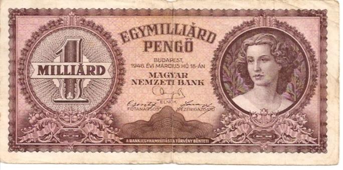Magyar Nemzeti Bank  100000 Pengo  1945 Issue Dimensions: 200 X 100, Type: JPEG
