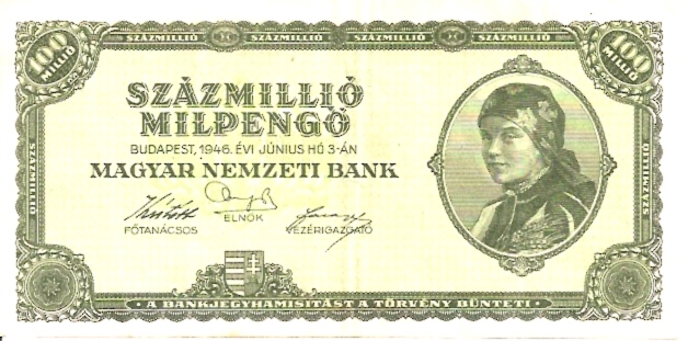 Magyar Nemzeti Bank  Mil Mil Pengo  1945 Issue Dimensions: 200 X 100, Type: JPEG