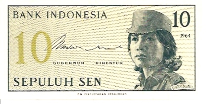 Republik Indonesia  10 Sen  1965 ND Issue Dimensions: 200 X 100, Type: JPEG