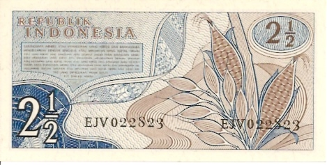 Republik Indonesia  2.5 Rupiah  1965 ND Issue Dimensions: 200 X 100, Type: JPEG
