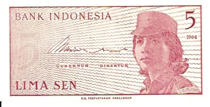 Republik Indonesia  5 Sen  1964 ND Issue Dimensions: 200 X 100, Type: JPEG