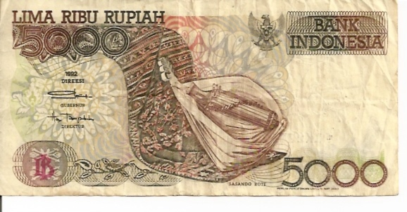 Republik Indonesia  5000  Rupiah  1989 ND Issue Dimensions: 200 X 100, Type: JPEG