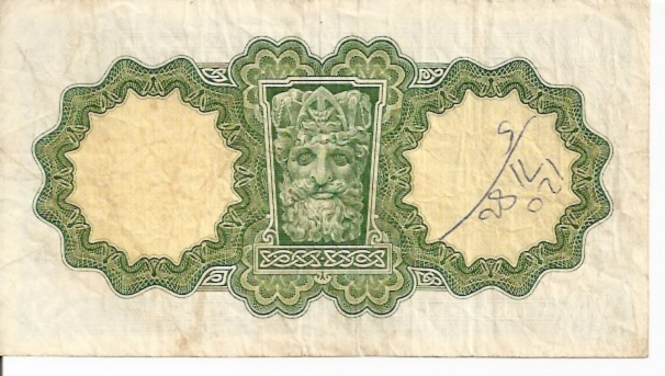 Central Bank of Ireland  1 Pound  1961-1963 Issue Dimensions: 200 X 100, Type: JPEG