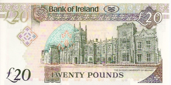 Bank of Ireland  20 Pounds  March 2003 Issue Dimensions: 200 X 100, Type: JPEG