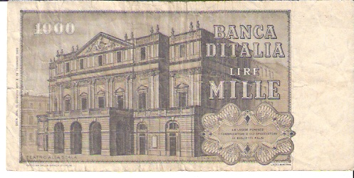 Bank of Italy  1000 Lire  1969-1971 Issue  Not in Circulation anymore Dimensions: 200 X 100, Type: JPEG