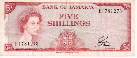 Government of Jamaica  5 Schilling  No Date Issue Dimensions: 200 X 100, Type: JPEG