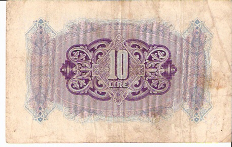 Military currency  10 Lira  Not in circulation anymore Dimensions: 200 X 100, Type: JPEG