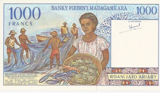 Institut D.Emission Malgache  1000 Francs  1994-1995 ND Issue Dimensions: 200 X 100, Type: JPEG
