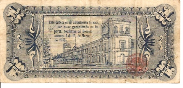 United States of Mexico  Banco De Mexico  1 Peso  Sep 1915 Issue Dimensions: 200 X 100, Type: JPEG