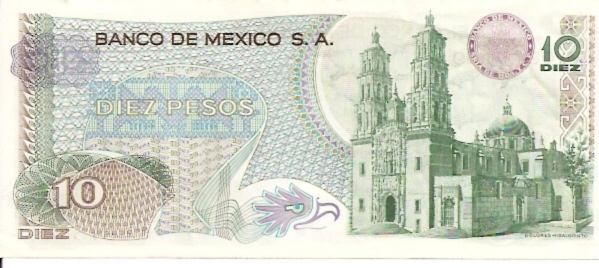 United States of Mexico  Banco De Mexico  10 Peso  1969-1974 Issue Dimensions: 200 X 100, Type: JPEG