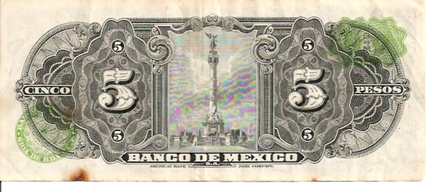 United States of Mexico  Banco De Mexico  5 Peso  1957-1961 Issue Dimensions: 200 X 100, Type: JPEG