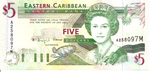 East Caribbean Currency Authority  5 Dollars  Part of Caribbean Islands Dimensions: 200 X 100, Type: JPEG