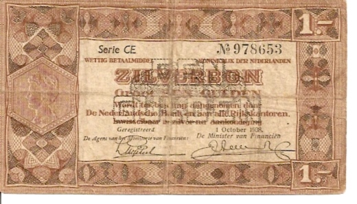 Government of Netherland  1 Gulden   1938 Issue Dimensions: 200 X 100, Type: JPEG