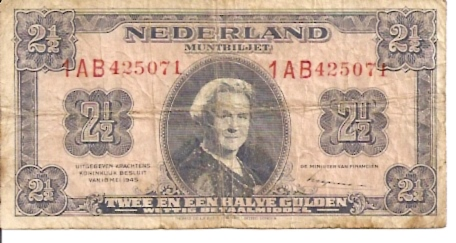 Government of Netherland  2.50 Gulden   ND Issue  Old Currency Dimensions: 200 X 100, Type: JPEG