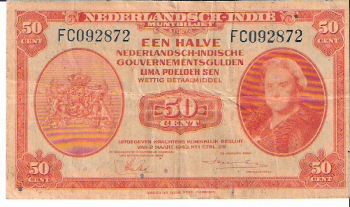 Government of Netherland  50 Cents  1943 Issue Dimensions: 200 X 100, Type: JPEG