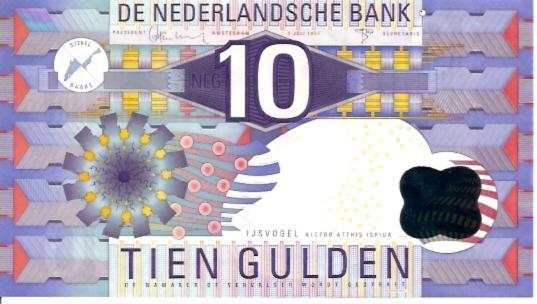 Netherland Bank  10 Gulden   1989-1997 Issue Dimensions: 200 X 100, Type: JPEG