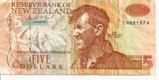 Reserve Bank of New Zeland  5 Dollar  19992 ND Issue Dimensions: 200 X 100, Type: JPEG
