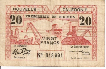 Banco De Indochina  20 Francs  ND issue Dimensions: 200 X 100, Type: JPEG
