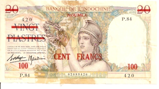 Banque De L'Indochina  100 Francs  No Date Issue   Dimensions: 200 X 100, Type: JPEG