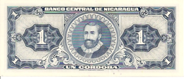 Banco Central De Nicaragua  1 Cordobas   1962 ND Issue Dimensions: 200 X 100, Type: JPEG