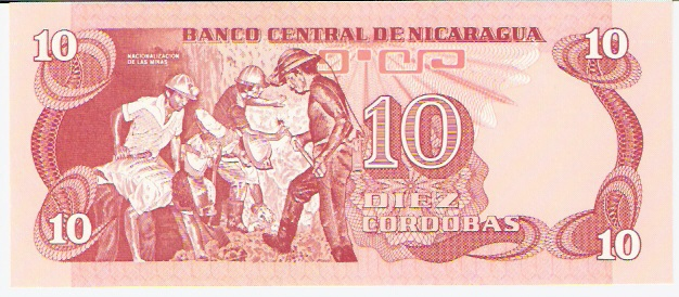 Banco Central De Nicaragua  10 Cordobas   1979 ND Issue Dimensions: 200 X 100, Type: JPEG
