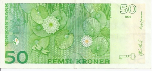 Norges Bank  50 Kroner  1994-1996 ND Issue Dimensions: 200 X 100, Type: JPEG