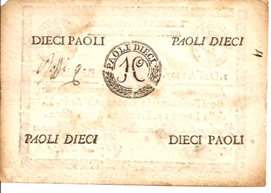 Vatican Currency - Italy  10 Paoli  Not in circulation anymore Dimensions: 200 X 100, Type: JPEG