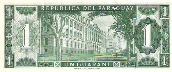 Banco Central Del Paraguay  1 Guarani  Aug 1963 Issue Dimensions: 200 X 100, Type: JPEG