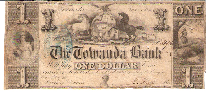 The Towanda Bank  1 Dollars  1853 Issue  Not in circulation anymore  AKA - Broken Notes Dimensions: 200 X 100, Type: JPEG