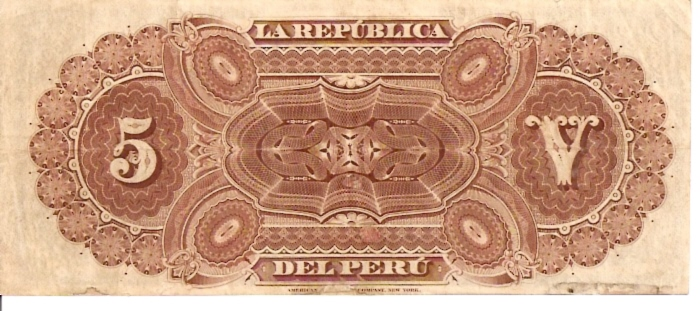 Banco Central De Reserva Del Peru  5 Soles De Oro  1962 -1964 Issue Dimensions: 200 X 100, Type: JPEG