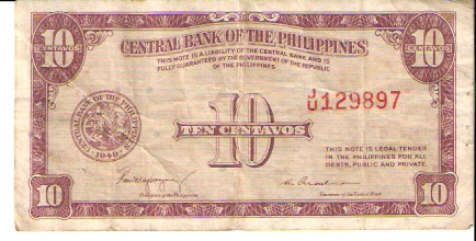 Bangko Sentral NG Pilipinas  10 Piso  Old Currency Dimensions: 200 X 100, Type: JPEG