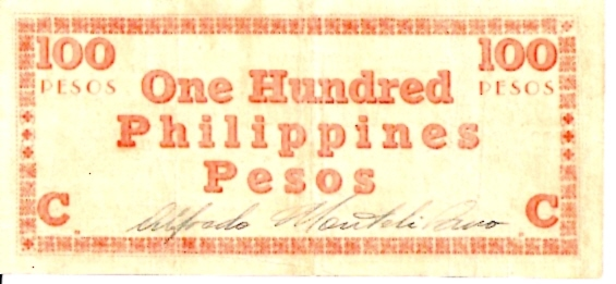 Bangko Sentral NG Pilipinas  100 Peso  Extremely old - ND Issue Dimensions: 200 X 100, Type: JPEG