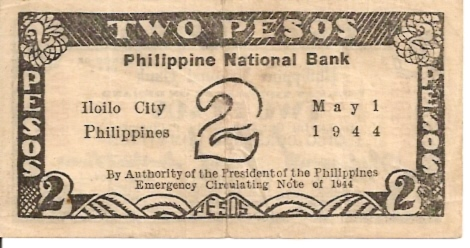 Philippine Central Bank  2 Pesos  1944 Series Dimensions: 200 X 100, Type: JPEG