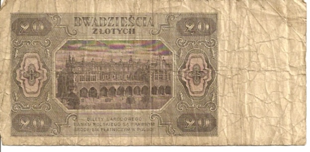 Polish National Bank  20 Zlotych  1962 Issue Dimensions: 200 X 100, Type: JPEG