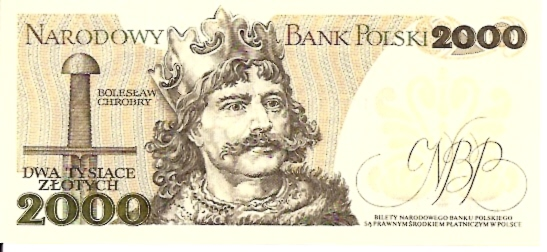 Polish National Bank  2000 Zlotych  1977 Issue Dimensions: 200 X 100, Type: JPEG