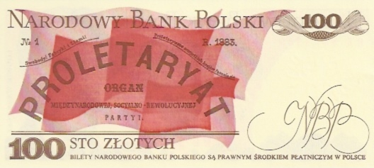 Polish National Bank  100 Zlotych  1990 Issue Dimensions: 200 X 100, Type: JPEG