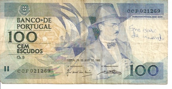 Banco De Portugal  100 Escudos  1964-1966 Issue Dimensions: 200 X 100, Type: JPEG