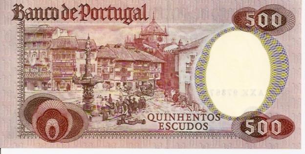 Banco de Portugal  500 Escudos  Octobor 1979 Issue Dimensions: 200 X 100, Type: JPEG