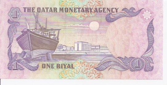 Qatar Central Bank  1 Riyal  1985 ND Issue Dimensions: 200 X 100, Type: JPEG