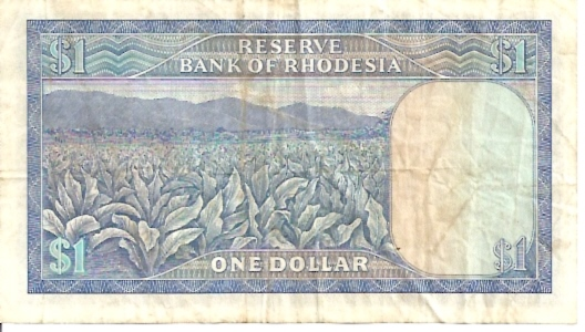 Reserve Bank of Rhodesia  1 Dollar  1970-1972 Issue Dimensions: 200 X 100, Type: JPEG