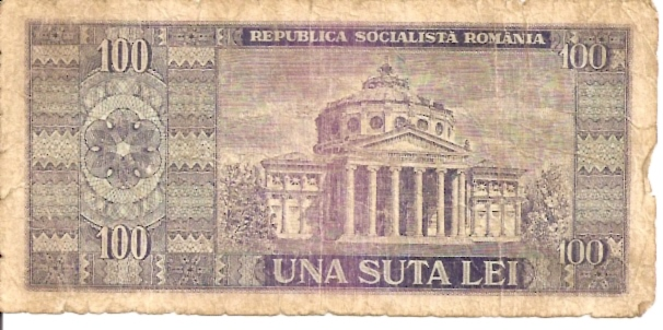 Banca Nationala A Republici Socialste Romania  100 Lei  1968 Issue Dimensions: 200 X 100, Type: JPEG