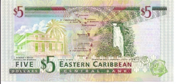 East Caribbean Central Bank  5 Dollars  No Date Issue Dimensions: 200 X 100, Type: JPEG