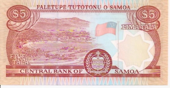 Central Bank of Samoa  5 Tala  No Date Issue Dimensions: 200 X 100, Type: JPEG