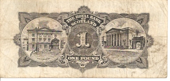 The Royal Bank of Scotland  1 Pound  December 1964 Issue Dimensions: 200 X 100, Type: JPEG