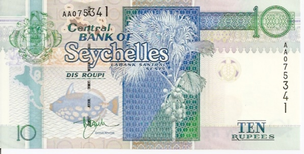 Central Bank of Seychelles  10 Roupi  No Date Issue Dimensions: 200 X 100, Type: JPEG