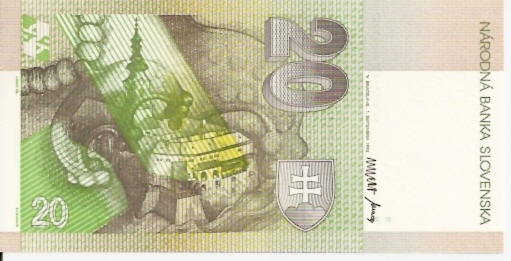 Republic of Slovakia 20 Korun 1998 ND Issue Dimensions: 200 x 100 Type: JPEG