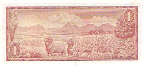 South African Reserve Bank  1 Rand  1961 ND Issue Dimensions: 200 X 100, Type: JPEG