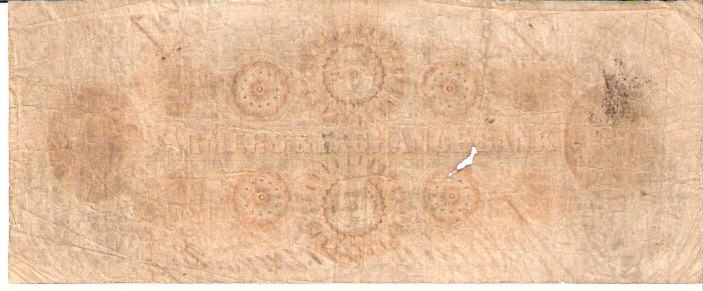 Farmer Exchange Bank  5 Dollars  1863 Issue  Not in circulation anymore  AKA - Broken Notes Dimensions: 200 X 100, Type: JPEG